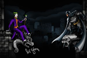Joker Vs Batman 5k Wallpaper