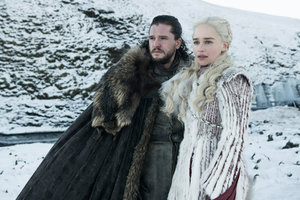 Jon Snow And Daenerys Targaryen Game Of Thrones Season 8 Wallpaper
