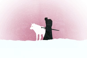 Jon Snow Game Of Thrones Minimalism