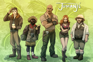 Jumanji Welcome To The Jungle 4k Artwork