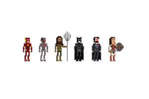 Justice League 8 BIT Artwork
