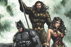Justice League Aquaman Batman Wonder Woman Artwork