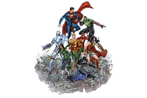 Justice League Dc Comic Artwork HD