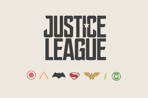 Justice League Minimalism Logos 4k Wallpaper