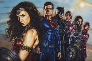 Justice League Paint Art
