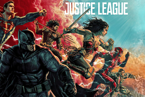 Justice League Poster 4k