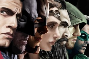Justice League Superheroes Artwork