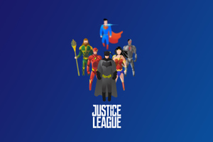 Justice League Superheroes Illustration 4k Wallpaper