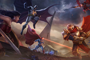 Justice League Vs Arena Of Valor Wallpaper