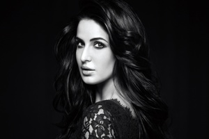 Katrina Kaif Monochrome Wallpaper