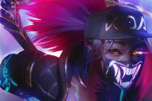 Kda Akali Fan Art Wallpaper