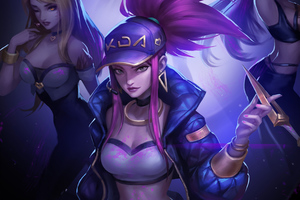 Kda Akali League Of Legends 4k Wallpaper