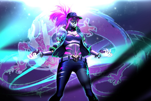 Kda Akali League Of Legends Wallpaper