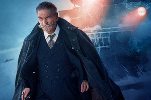 Kenneth Branagh As Hercule Poirot In Murder On The Orient Express 4k