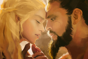 Khal Drogo And Daenerys Love Wallpaper