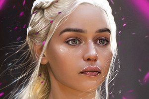 Khaleesi Fan Art 4k Wallpaper