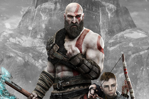 Kratos And Atreus God Of War 4 4k 2018 Wallpaper