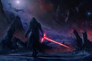 Kylo Ren Star Wars Art Wallpaper