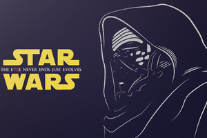 Kylo Ren Star Wars Illustration Wallpaper