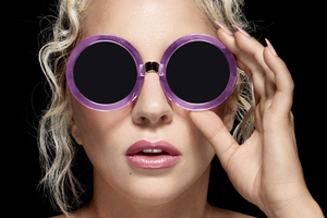 Lady Gaga Wearing Lobster Eye Glasses