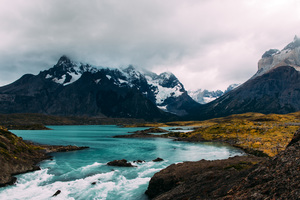 Lake Landscape Mountains Sky 5k Wallpaper