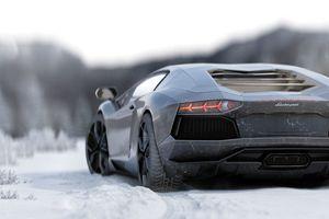 Lamborghini Aventador 5k Rear Wallpaper