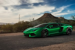 Lamborghini Aventador Green 4k Wallpaper