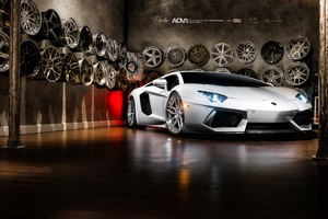 Lamborghini Aventador On Adv1 Wheels