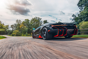 Lamborghini Centenario Coupe Rear Wallpaper