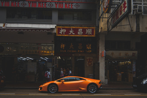 Lamborghini City Hong Kong Wallpaper