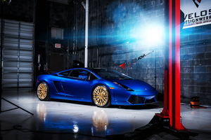 Lamborghini Gallardo Adv Whels Wallpaper
