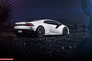 Lamborghini Huracan CGI Rear Wallpaper