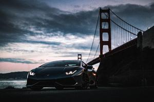Lamborghini Huracan Golden Gate Bridge Wallpaper