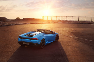 Lamborghini Huracan LP 610 4 Spyder 2018 Rear Wallpaper
