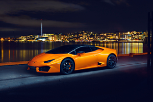 Lamborghini Huracan LP580 Night Photoshoot Wallpaper