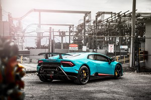 Lamborghini Huracan Performante Rear 5k Wallpaper