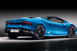 Lamborghini Huracan Spyder Convertible Rear Wallpaper