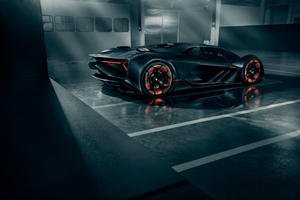 Lamborghini Terzo Millennio 2019 Rear View Wallpaper