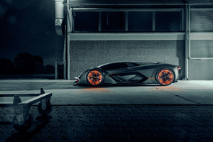 Lamborghini Terzo Millennio 2019 Side View Wallpaper