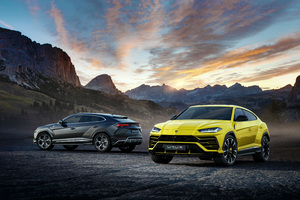 Lamborghini Urus Black And Yellow 4k