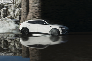Lamborghini Urus In White Wallpaper