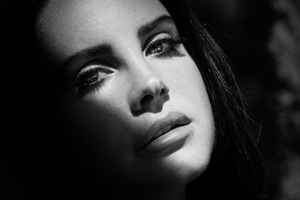 Lana Del Rey Monochrome Wallpaper