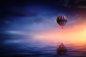 Landscape Hot Air Balloon