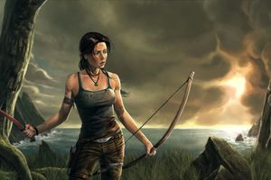 Lara Croft 8k Artwork Wallpaper