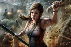 Lara Croft Tomb Raider Fanart 5k Wallpaper