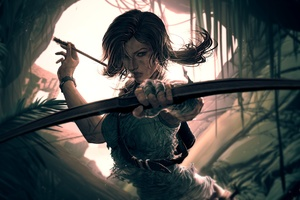 Lara Croft Video Game Art Wallpaper