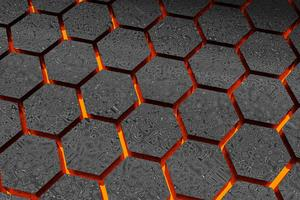 Lava Abstract Hexagon 3d Wallpaper