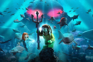 Lego Aquaman Poster 8k Wallpaper