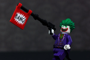 Lego Joker Funny Wallpaper