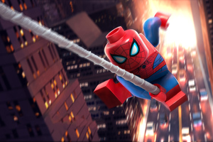 Lego Spiderman 5k Wallpaper